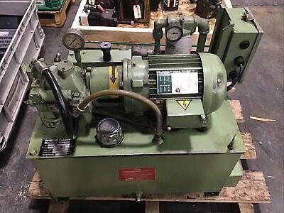 Parker Pu26144 6.6 Gpm 2hp 240460 15 Gal Hydraulic Power Unit 650 Psi 1200taw