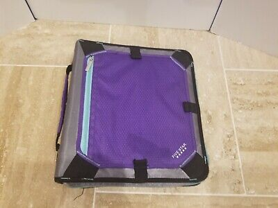 Five Star Purple Teal Gray Zippered 3 Ring Binder With Pocket Folders
