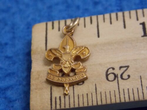 VINTAGE - SMALL BSA FIRST CLASS 5/8 INCH CHARM/PENDANT - GOLD FILLED