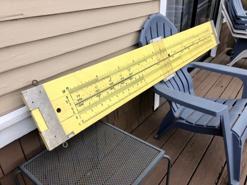 Giant 7 Foot Pickett Slide Rule Trade Sign, School Store Sign