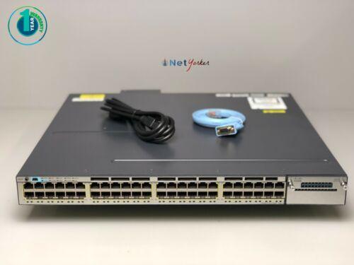 Cisco Ws-c3750x-48pf-s • 48 Port Poe 3750x Gigabit Switch ■ Same Day Shipping ■
