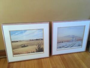 Four framed prints by Sharon Larson