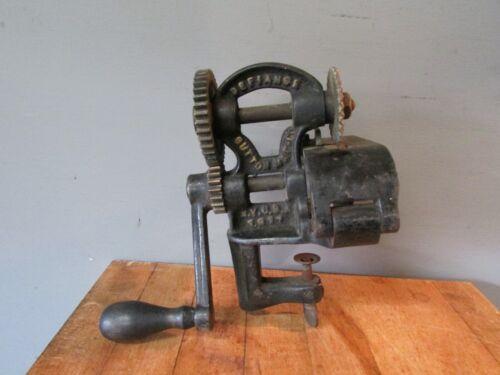 Antique Hand Crank Pinker Tool Cast Iron 1900
