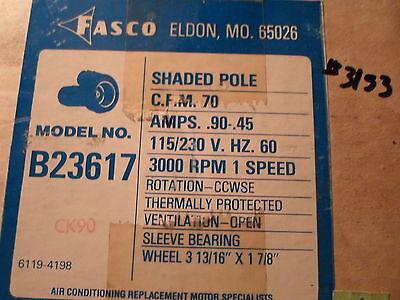 Centrifugal Blower 115/230 Volts Fasco # B23617, 70 CFM, 3000 RPM Shaded (Cfm Pole Blower)