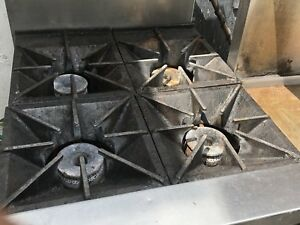 Restaurant Flat Top with Oven and Oven With 4 Burner  For Sale