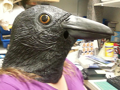 Sinister Crow / raven Mask - New in package - Dress up Adult size - Sinister Mask