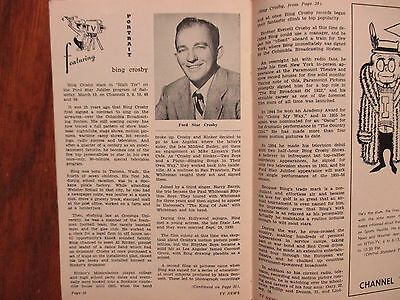March 9 1956 Indianapolis Tv News Magazine Bing Crosby Julie Andrews Nancy Olsen
