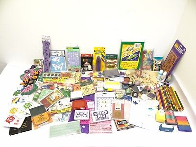 Large Mixed Lot Arts Crafts Supplies Inkpads Prang Crayola Rubber Stamps Pencils