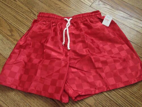NEW Vintage VKM Youth Medium YM Checkered Shorts Polyester 90s Soccer