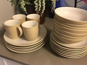 Noritake Colorwave Dishes - yellow and cream