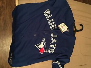 Blue Jays Jersey with tag, embroidered by Majestic
