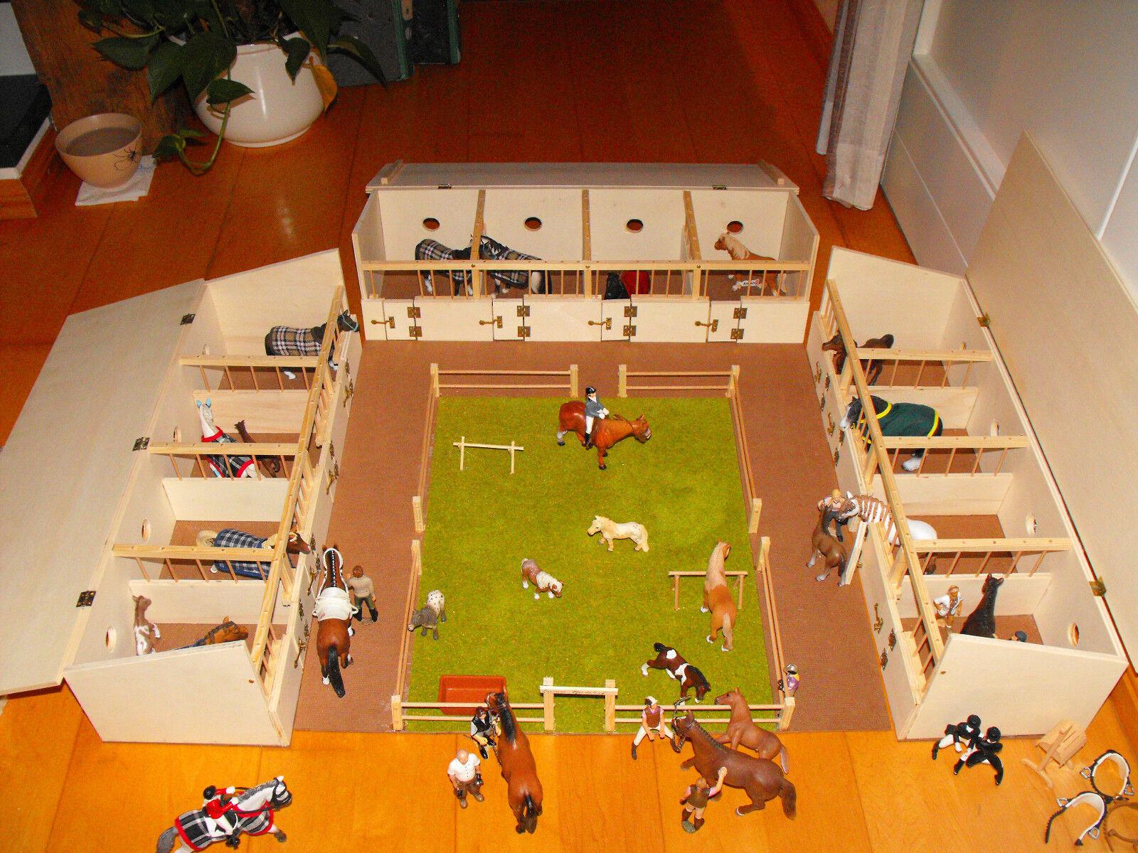 pferdestall pferdeboxen f r u a schleich pferde eigenbau aus holz eur 55 00 picclick de. Black Bedroom Furniture Sets. Home Design Ideas