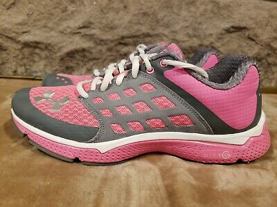 Under Armour UA Micro G 4d foam PINK GRAY RUNNING SHOES WOMENS SZ 9 EXCELLENT! (Under Armour 4d Foam Micro G Womens)