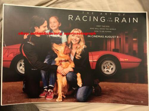 RACING IN THE RAIN MILO VENTIMIGLIA GOLDEN RETRIEVER DOG SIGNED 12x18 REPRINT RP