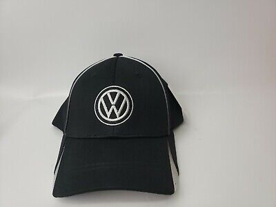 Volkswagen Driver Gear Baseball Cap Hat Embroidered With VW Logo Black NWT