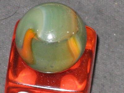 BLENDED MULTI COLOR OPALESCENT VINTAGE PELTIER GLASS MARBLE MARBLES