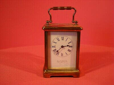 ANTIQUE CARRIAGE CLOCK, ELISABETH JANE FAIRBAIRNS, CIRCA 1900. WITH KEY