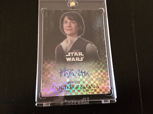 Topps Star Wars autograph trading card