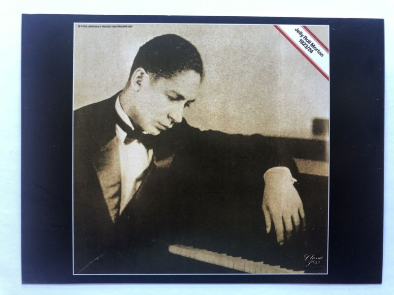 Classic Blues Music album Covers Postcard Jelly Roll Morton c. 1923/24