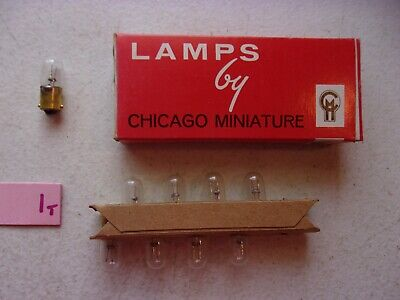LOT OF 9 NEW IN BOX CHICAGO MINIATURE LAMPS 1490 WIK1490 CLEAR (152-1)