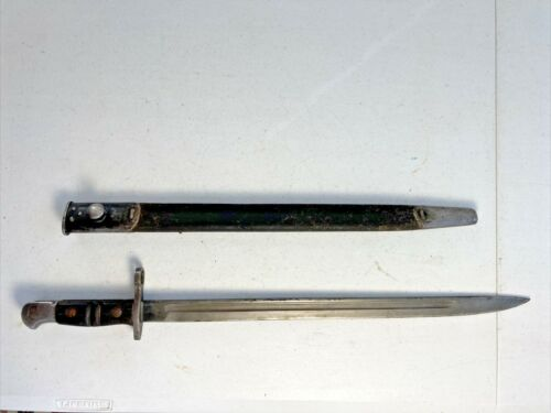 WWI 1913-1917 REMINGTON BRITISH ENFIELD BAYONET in Leather Scabbard