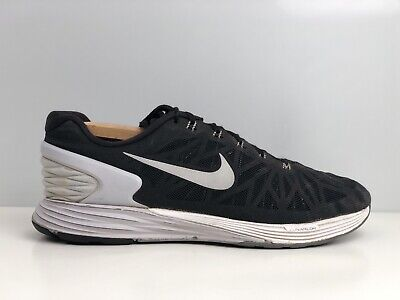 Nike Lunarglide 6 Men's Black Mesh Running Trainers UK Size 10