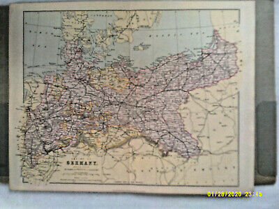 Antique Map. EMPIRE of GERMANY (Northern Portion). William Mackenzie. c1880.VG.