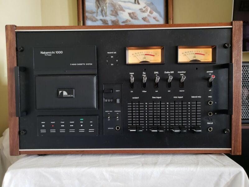 Vintage Nakamichi 1000 Tri-Head Cassette Tape Deck. Works well!