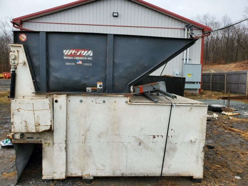 Weima WLK 15 Single Shaft Shredder 200hp w/ Diesel Industrial Engine