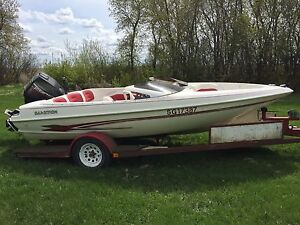 1995 Glastron GS 160 with 90hp Force