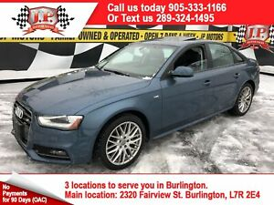 2015 Audi A4 S-LINE, Komfort +, Leather, Sunroof, AWD,