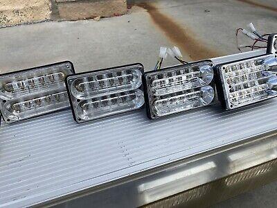 Two Whelen 400 Series Freedom Lightbar Super Led Lighthead Red Amber