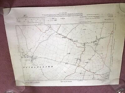Roll Of 9 Old Maps Antique Job Lot Ordnance Survey Leicestershire Lincolnshire