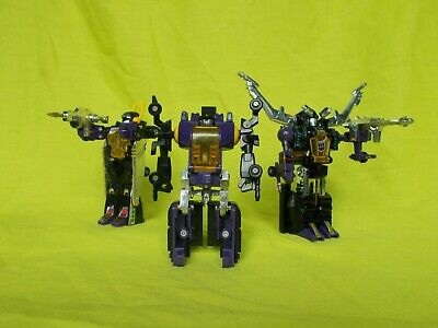 VINTAGE TRANSFORMERS G1 INSECTICONS BOMBSHELL KICKBACK SHRAPNEL LOT w/ WEAPONS