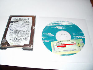 Microsoft Windows XP Professional SP3 (Service Pack 3) Pro COA, CD+HARD DRIVE