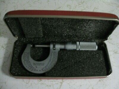 The L.s. Starrett No. 230 With Case Micrometer 0-1 .0001