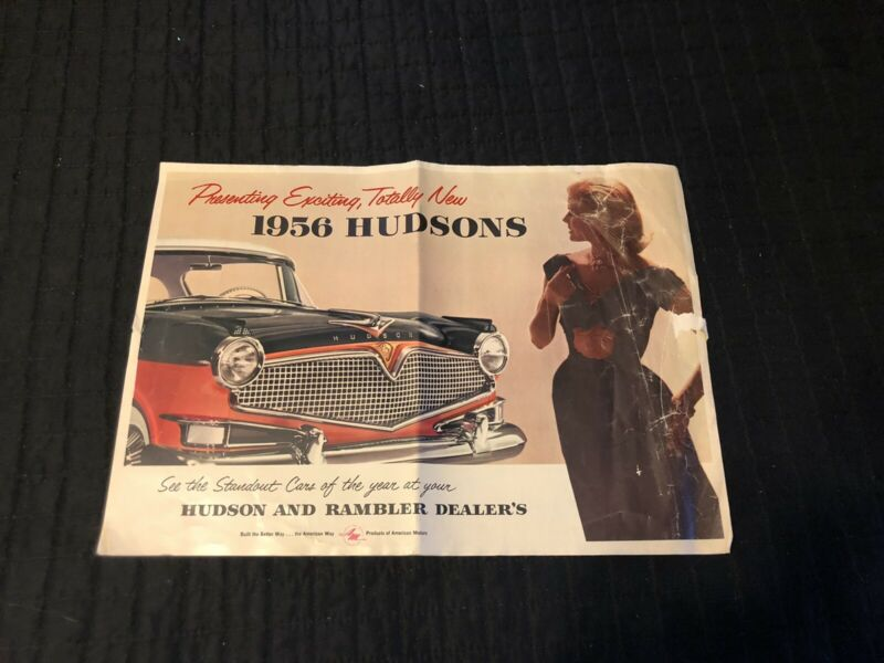 1956 Hudson Hornet and Wasp Full Line Color Brochure Catalog