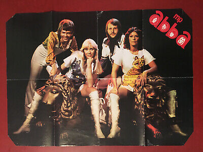 mp ABBA single sided poster cat outfits gold - Abba Outfits