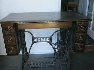 Treadle sewing machine table Bundanoon Bowral Area Preview