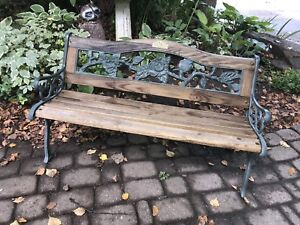 """Child's size garden bench 37.5"""" long excellent condition"""
