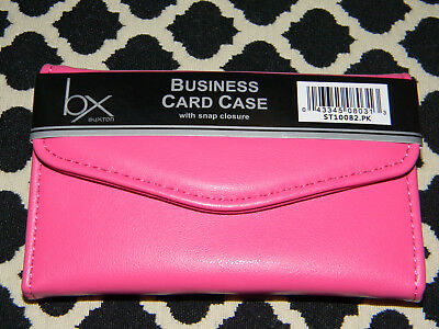 "NEW IN PACKAGE! BUXTON PINK BUSINESS CARD CASE WITH FLAP 4.5"" X 3"" SO CUTE! for sale  Oakboro"