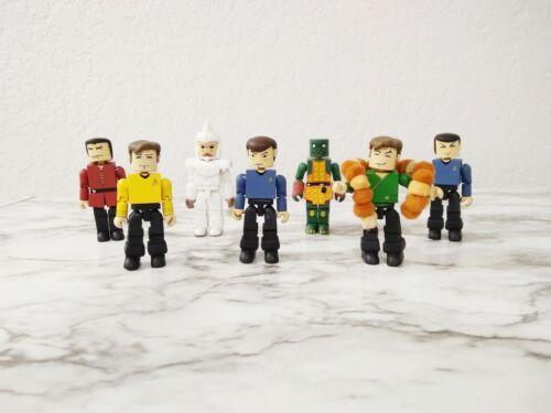 "Star Trek 3"" Minimates Art Asylum Lot of 7 Figures TOS Kirk Tribbles Gorn Mugatu"