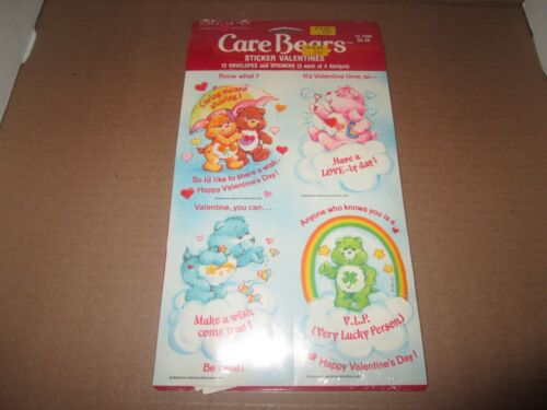 12 Vintage Care Bears Sticker Valentine's Day American Greetings Unopened NOS