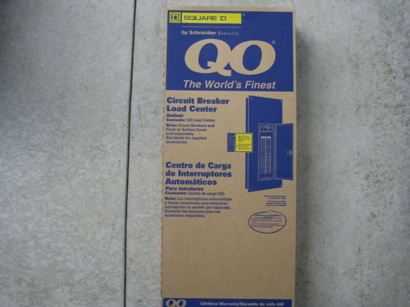 QO140M200 Square D 200amp M Breaker 40/40 Panel With FLUSH OR SURFACE  Cover...