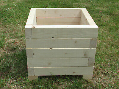Large Wooden Garden Planter, Solidly Built and Sturdy.