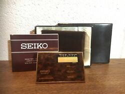 Vintage Seiko Handheld Quartz Alarm Chronograph Desktop Clock/alarm