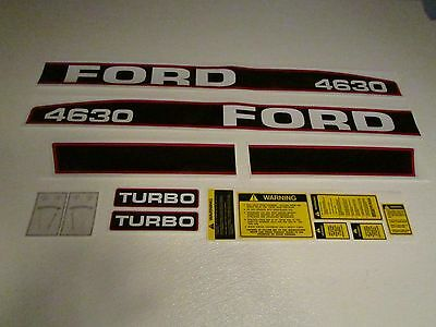 Tractor Decal Set For Ford 4630 Turbo Stickers 1115-1552