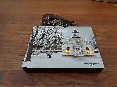 I Heard the Bells On Christmas Day Battery Lighted Canvas Ornament Billy Jacobs