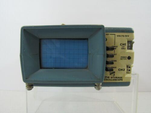 Tektronix 214 Dual Trace Portable Oscilloscope Complete w/ Case & Manual (Pg40C)