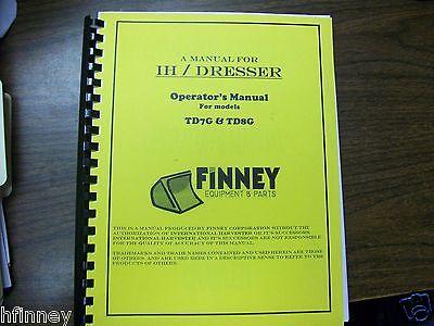Dresser Td7g Td8g Dozer Operator Maintenance Manual Operation Book Ih Dressta